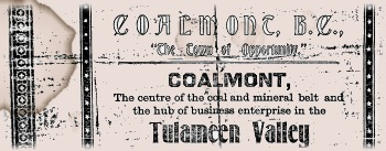 Coalmont Courier advertisment